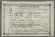 One of ten Certificates of Discharge for David Petrie