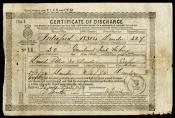 One of ten Certificates of Discharge for David Petrie.