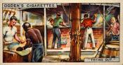 "Ogdens cigarette cards, whaling series. 25 in the series. 14. ""Trying Out"""