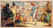 """Ogdens cigarette cards, whaling series. 25 in the series. 15. """"Gamming"""""""