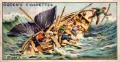 """Ogdens cigarette cards, whaling series. 25 in the series. 17. """"stoved"""""""