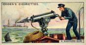 Ogdens cigarette cards, whaling series. 25 in the series. 8. A Harpoon Gun