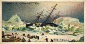 Ogdens cigarette cards, whaling series. 25 in the series. 21. The 'Diana',