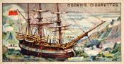 Ogdens cigarette cards, whaling series. 25 in the series. 23.The 'Harpooner',