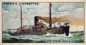 Ogdens cigarette cards, whaling series. 25 in the series. 24. Modern Steam Whale Catcher