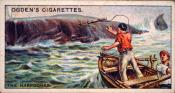 Ogdens cigarette cards, whaling series. 25 in the series. 4. The Harpooner