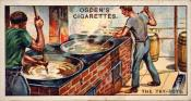 Ogdens cigarette cards, whaling series. 25 in the series. 9. The Try  Pots