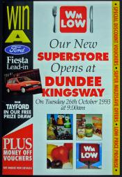 Promotional Leaflet for the opening of Dundee Kingsway Store Tues 26 October 1993