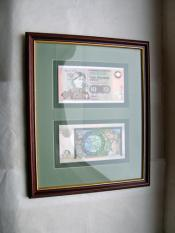 Two Framed Clydesdale Bank £10 notes, Mary Slessor