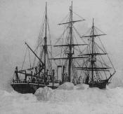 Lantern slide of S.S. ' Aurora' off Cape York