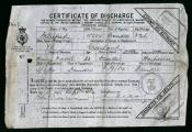 One of a set of Discharge Certificates for Henry Neville.