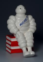 Michelin Man ceramic baby bank