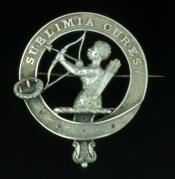 Silver clan badge of the Bowman family