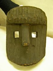Large carved wooden face mask
